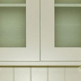 kitchen cabinets with glass door