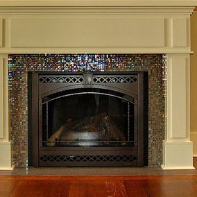 front view of a fireplace
